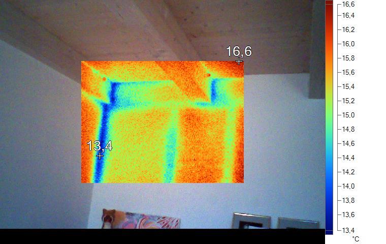Figura 4 Difetto di isolamento termico interno