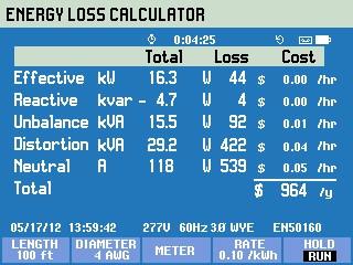 Figura 4. Energy Loss Calculator (Algoritmo di Valencia)